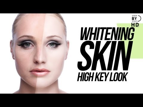 "Whitening Skin In Photoshop "" High Key look """