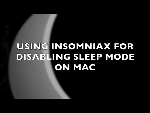 Using InsomniaX app for disabling Sleep mode on Mac OS X