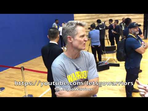 STEVE KERR, Golden State Warriors availability (2nd stint) in Shanghai, NBA China Games