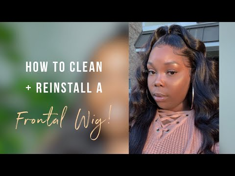HOW TO CLEAN AND REINSTALL A LACE FRONTAL WIG WITHOUT GLUE | Ft. Beauty Forever Hair