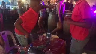 Dr Morwana Tshaba Ke Fete n his Cousin dancing to Candy Tsa Mandebele