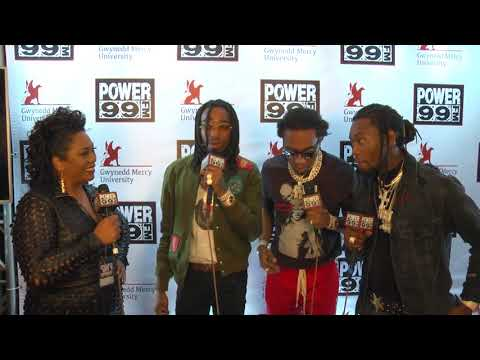 Migos pop backstage to hang with Cappuchino at Power 99 Powerhouse (Interview)