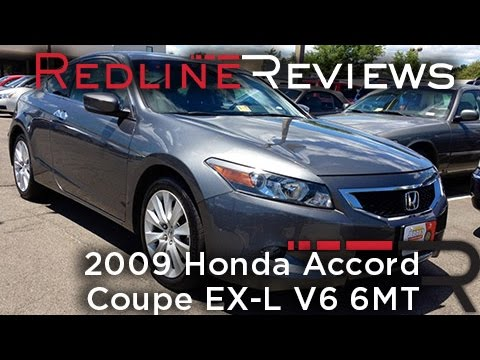 2009 Honda Accord Coupe EX L V6 6MT Walkaround, Review, Test Drive   YouTube