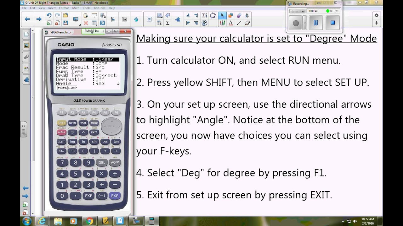 Setting casio to degree mode youtube setting casio to degree mode biocorpaavc Images