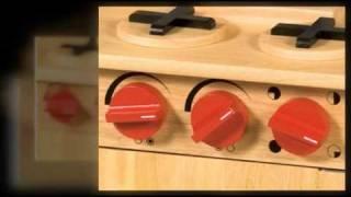 Pretend Play Kitchens Guidecraft G97258 Natural Kitchenette