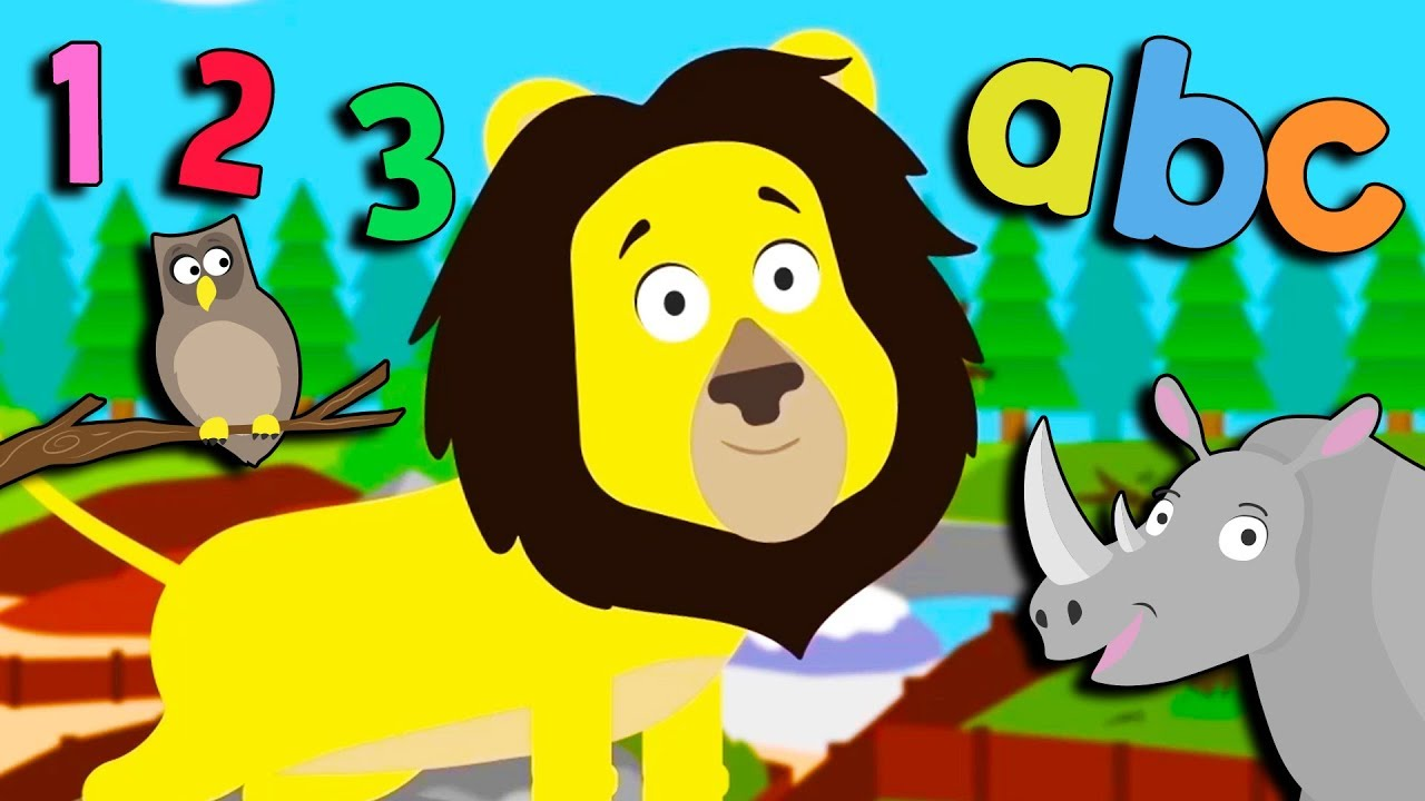 Animal Learning Videos For Toddlers Number Zoo Counting Colours Animal Sounds Youtube