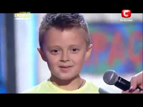 Видео: Мальчик взорвал зал на Шоу талантов Украина Мае Талант