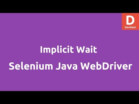 Implicit Wait using Selenium Java WebDriver