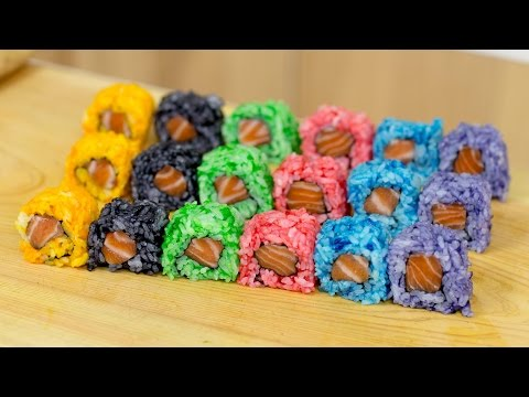 Generate Rainbow Colored Sushi Rice - Sushi Cooking Ideas #1 Images