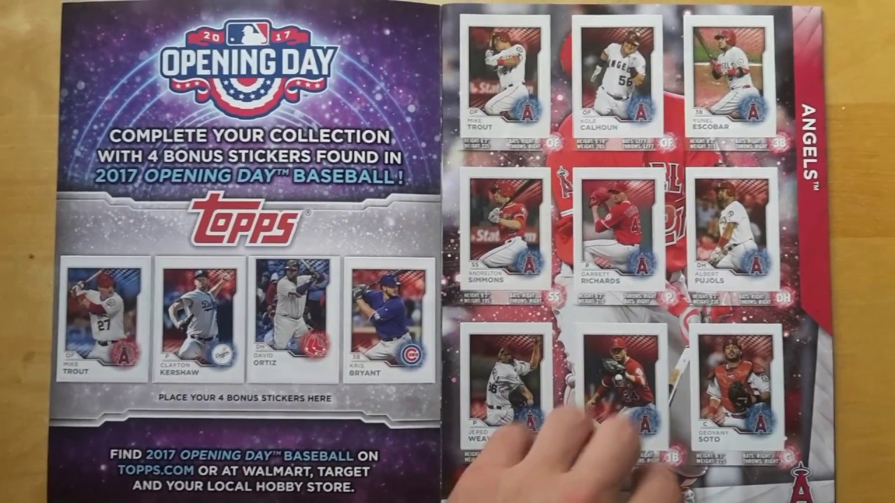 242993f0ebb 100% Complete 2017 Topps MLB sticker collection album - YouTube