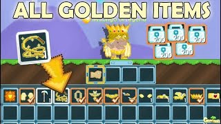 GrowTopia | Buying All Golden Items on GrowTopia!! (LEGENDARY WHIP!?!!) OMG!!