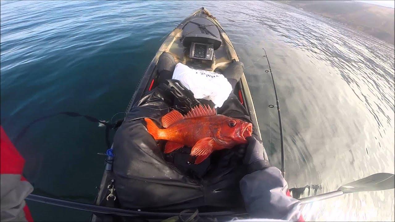 Big sur kayak fishing 8 23 15 youtube for Big sur fishing