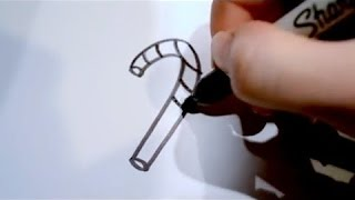 Pk Pk How to Draw a Cartoon Candy Cane
