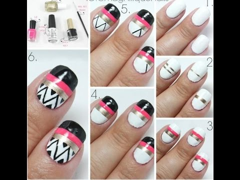 Nail Designs Step By Step | Interesting Step By Step Nail Designs ...