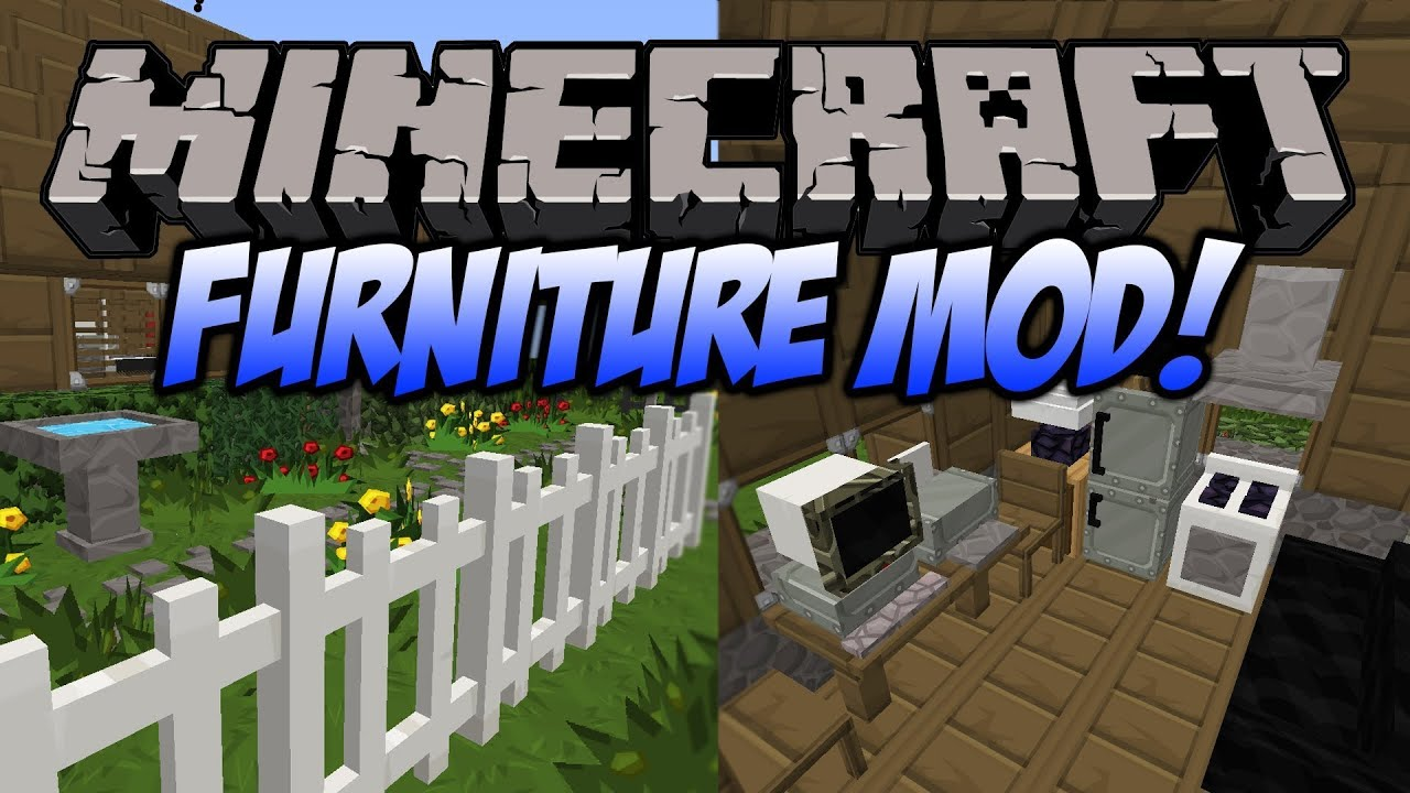 Cara Download Mr.Crayfish Furniture Mod 1.6.4/1.7.2