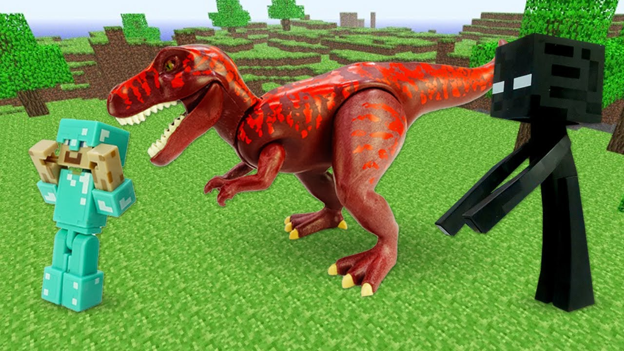 Обзор игры для мальчиков – Стив Майнкрафт против Мобов и Динозавров! – Онлайн видео сборник.