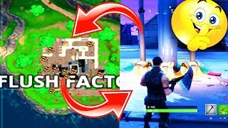 WHERE TO FIND 7 *EASY* CHEST LOCATIONS in FLUSH FACTORY! (FLUSH FACTORY FORTNITE *SECRET* CHEST) 😘