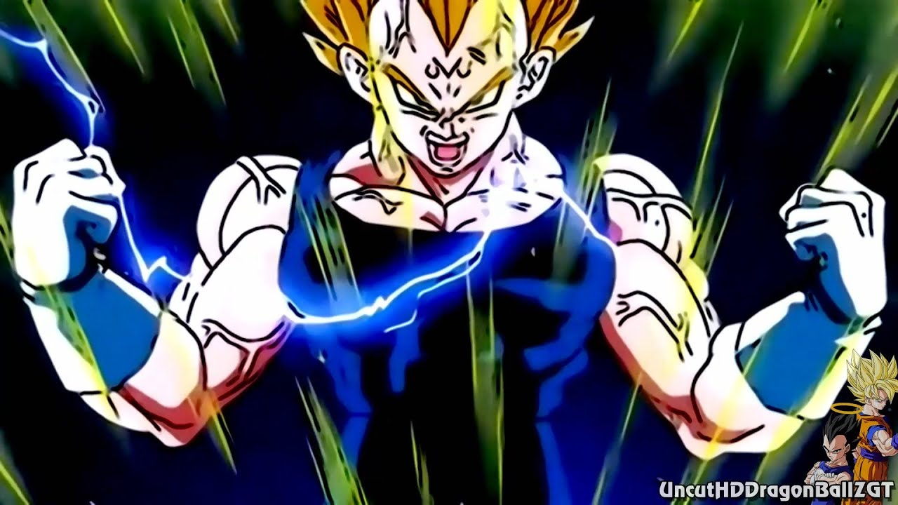 Goku and vegeta 39 s ssj2 transformation 1080p h youtube - Dragon ball z majin vegeta wallpaper ...