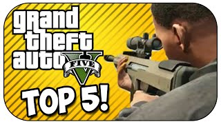 Top 5 SNIPER KILLS in GTA 5!