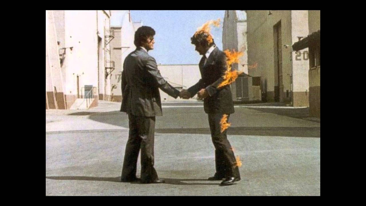 """pink floyd wish you were here One of the remarkable things about wish you were here is that it consists of only four songs: the sprawling """"shine on you crazy diamond"""", the eerie """"welcome to the machine"""", the ironic and biting """"wish you were here"""", and the poignant acoustic title track."""