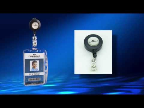 Security Card ID Name Badge Holder with Retractable Reel by Durable Office Products