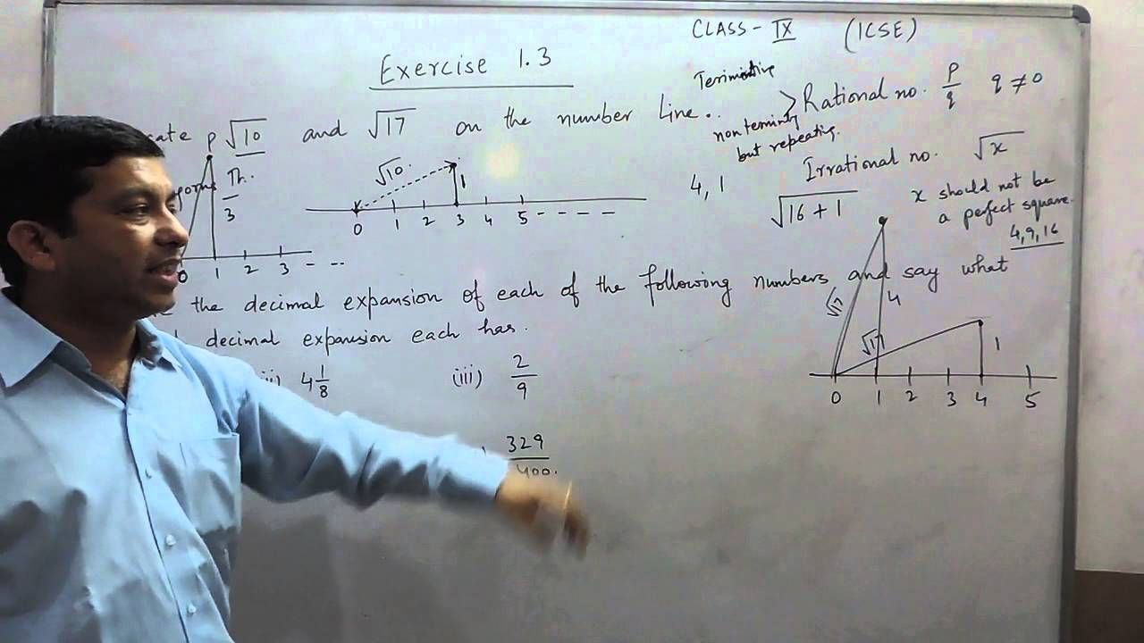 Exercise 1.3 (Q1-Q2) Solution for Class 9th Understanding ICSE ...