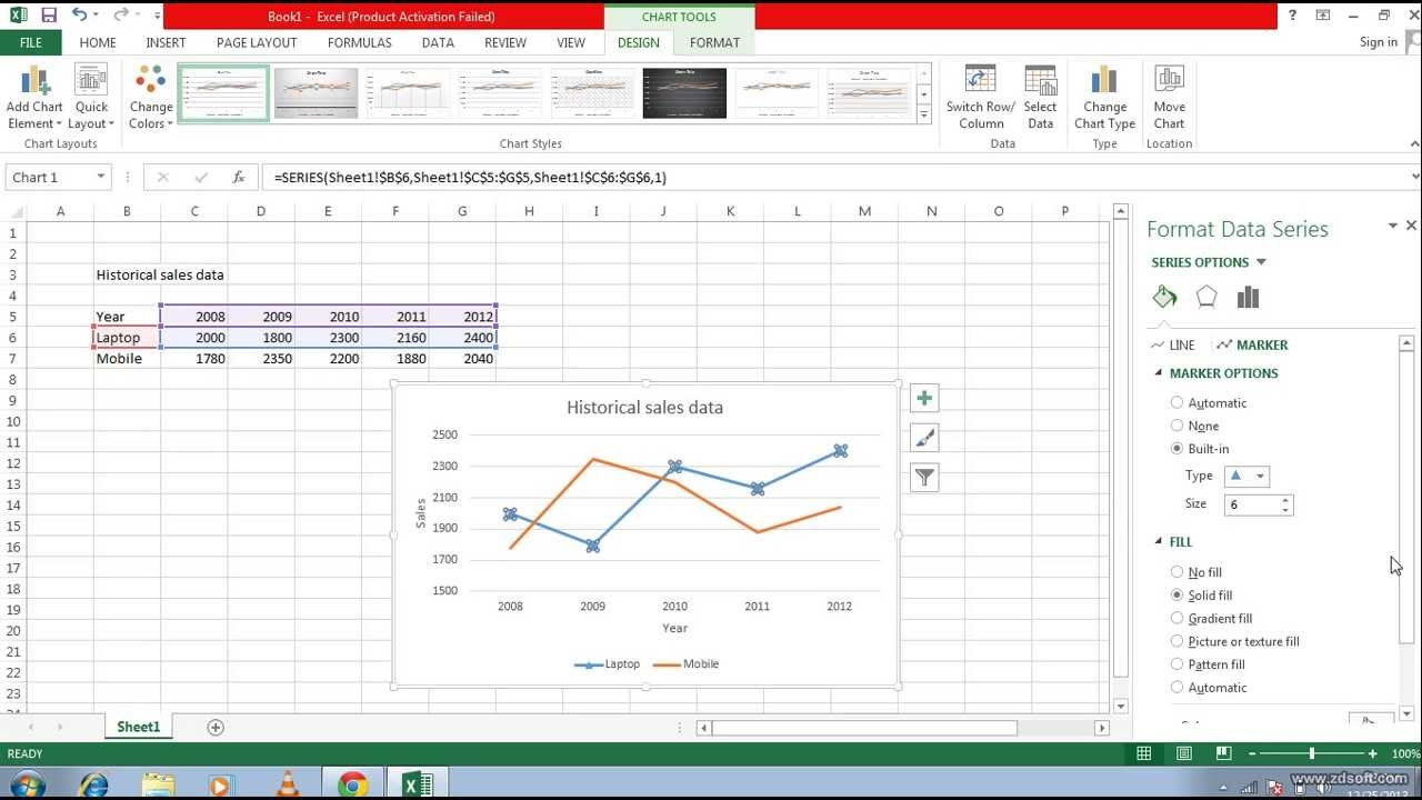 Drawing Lines With Excel : How to draw line chart in excel add a trend