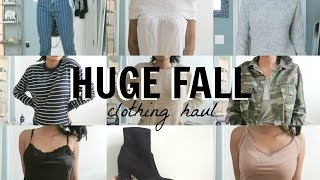 HUGE FALL TRY-ON CLOTHING HAUL 2016 | virtuallykobe