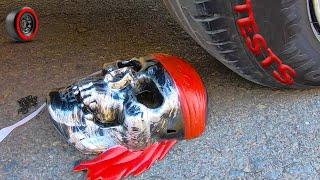 Crushing Crunchy & Soft Things by Car - EXPERIMENT: Mask skull vs car
