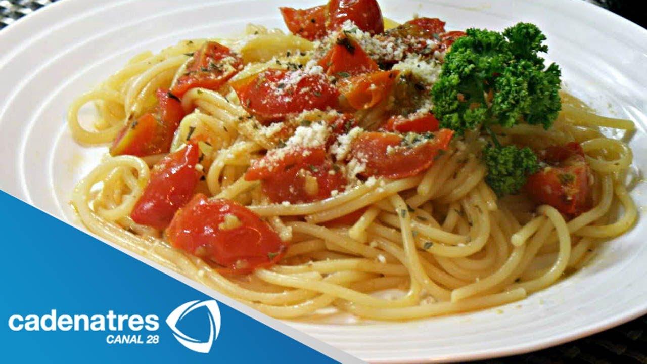 receta para preparar capellini al pomodoro comida italina