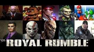 WWE 2k17 Royal Rumble Video Game Characters