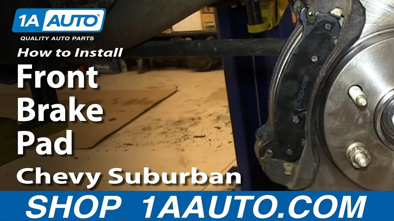 How To Install Replace Front Brake Pads   Chevy Suburban Tahoe Gmc Yukon
