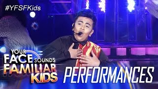 Your Face Sounds Familiar Kids: Elha Nympha as Ogie Alcasid- Dito Sa Puso Ko