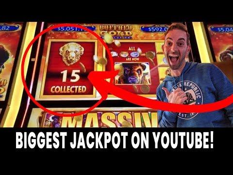 💰 BIGGEST Buffalo Gold Revolution JACKPOT on YouTube! 🎰 15 Gold Buffalo caught LIVE!