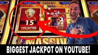 💰 BIGGEST Buffalo Gold Revolution JACKPOT on YouTube! 🎰 15 Gold Buffalo caught LIVE!