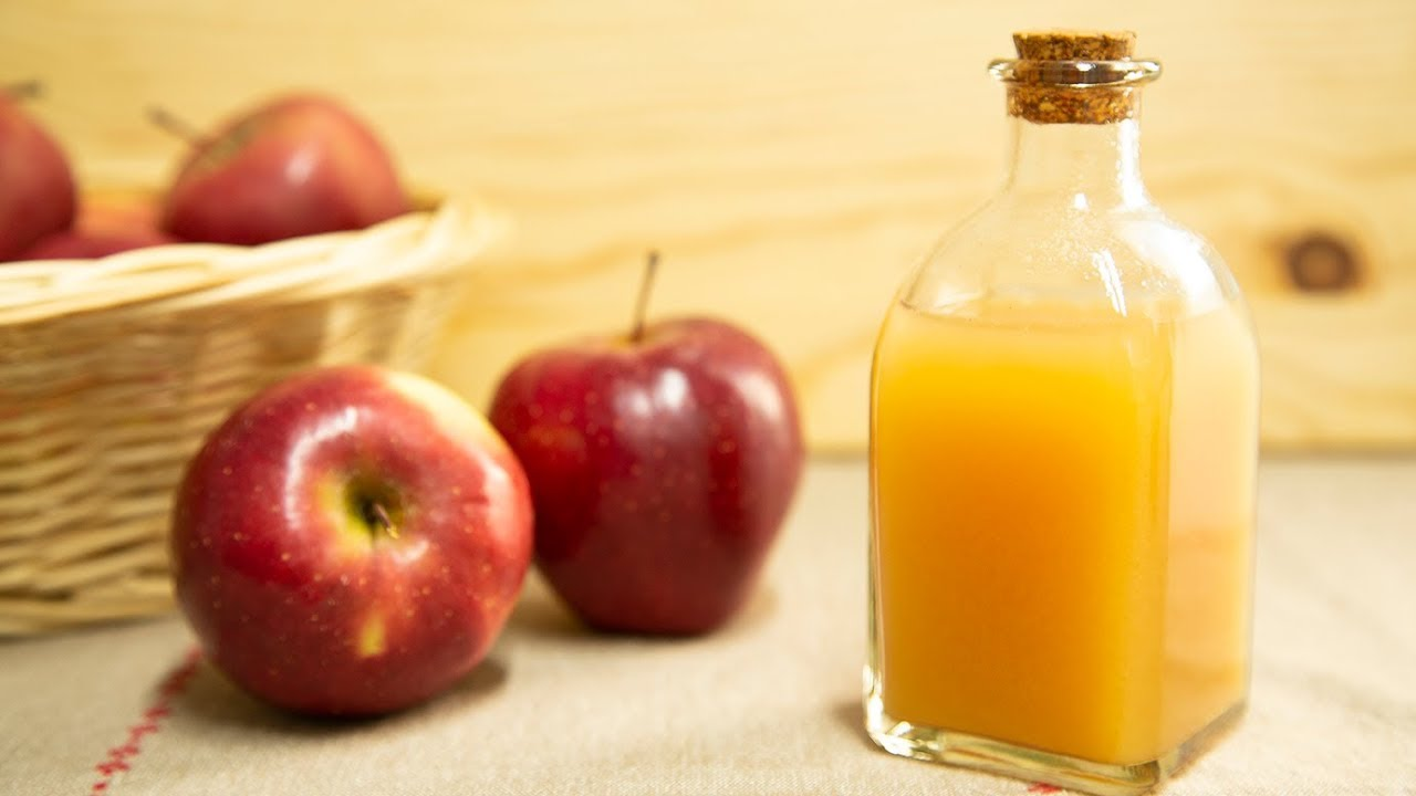 Cómo hacer VINAGRE DE MANZANA. How to make apple cider vinegar ...