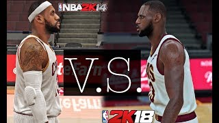 NBA 2K18 - King James vs NBA 2K14 - King James | Lets Take a Look PT. 2