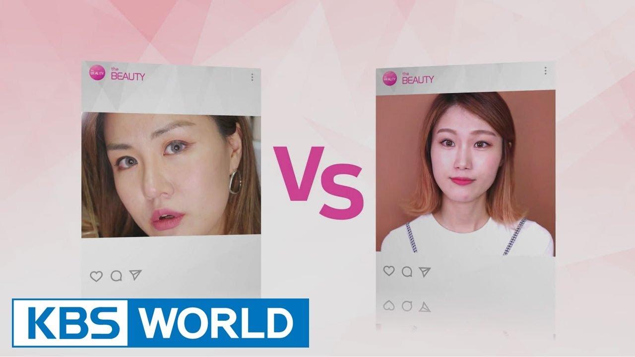 Beauty League - long hair makeup & bob cut make up! HANABONO vs LANNY [The Beauty / 2017.09.15]