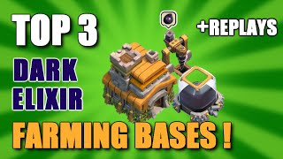 TOP 3 TH7 FARMING BASE 2016 + REPLAYS▐ GREAT FOR FARMING DARK ELIXIR !!