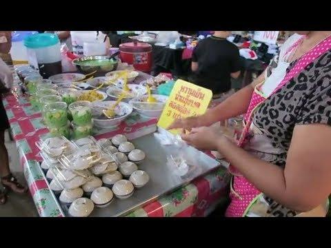 Thai Sweet Coconut Milk Dessert – Thailand Street Food