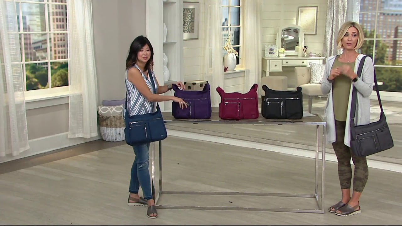 217b3daef153 Lug Large RFID Crossbody - Double Dutch 2.0 on QVC - YouTube
