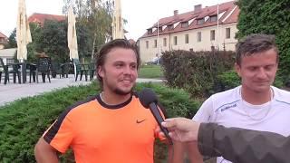 Marko Pašalič a Dominik Süč po výhře v 1. kole čtyřhry na turnaji Futures v Pardubicích