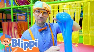 Learn Five Senses With Blippi & More at The Indoor Kids Playground | Educational Videos For Toddlers