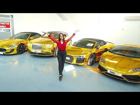 DUBAI'S RICHEST GOLD CAR COLLECTION !!!
