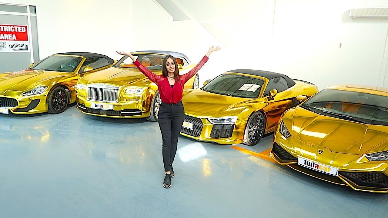 DUBAI'S RICHEST GOLD CAR COLLECTION !!!