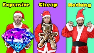 Cheap Vs Expensive Vs Nothing Gift Challenge | Christmas Special Challenge | Hungry Birds