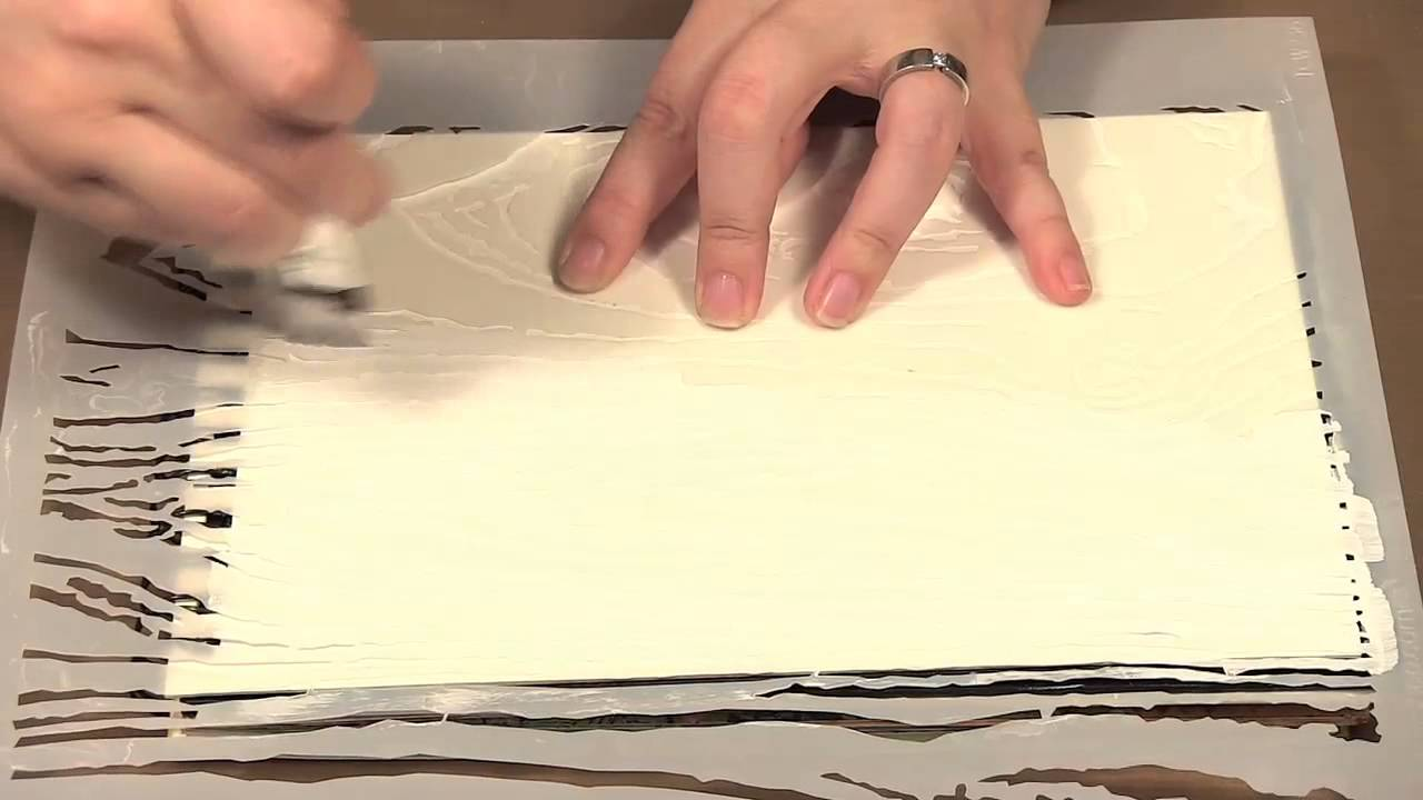 Scrap Time - Ep. 671 - Crafter\'s Workshop Templates with Gesso - YouTube