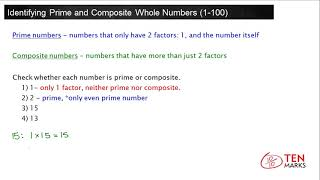 Identifying Prime and Composite Whole Numbers: 4.OA.4