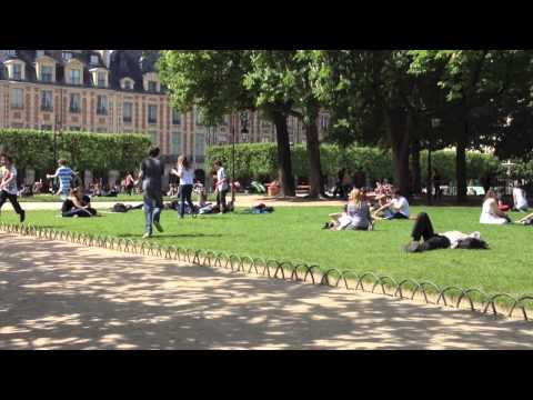 Picnic in Place Vosges, Paris, France