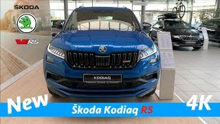 Škoda Kodiaq RS 2019 - quick look in 4K | Race blue metallic